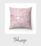 Pink Paris map pillow